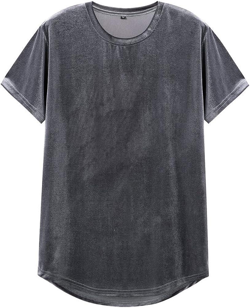 VFIVE UNFOUR T-Shirts Velours Velvet Hip Hop Extra Long Longue