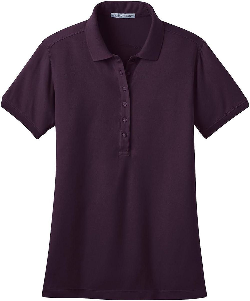 Port Authority Ladies Stretch Pique Polo. L555 Aubergine Purple S