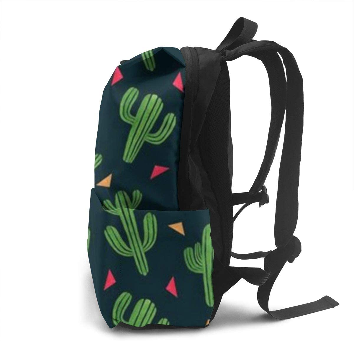 Cute Cactus Unisex Light and Durable Classic Travel School Backpack Fits 14 Inch Laptop