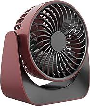Atrumly USB handheld ventilator 3-speed desktop ventilator draaibare mute koeling ventilator (D)