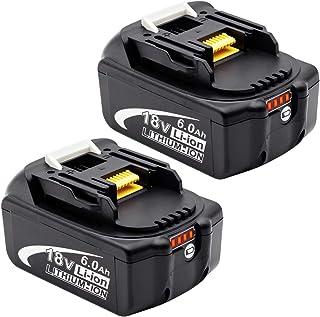 Endro マキタ18v バッテリーbl1860b マキタ18v互換バッテリー6.0Ah BL1860 BL1830 BL1840 BL1850 BL1830b BL1840b BL1850b 対応 残量表示付き PSE認証取得済み 2個セット