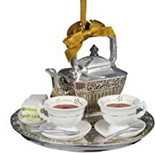 Kurt Adler Downton Abbey Teapot Set Ornament, 4.13-Inch