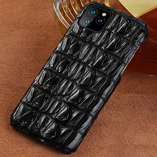 KKAAVV Funda de teléfono de Cuero100%para Apple iPhone 11Pro 11 Pro MAX XR X XS MAX 6 7 8 8 Plus 6S 5 5s SE 2 Funda, Negra, para iPhone 6S Plus