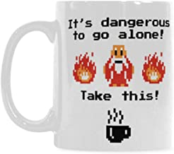 It's Dangerous to Go Alone... Take This! 11oz Ceramic Coffee Mug by Moslion