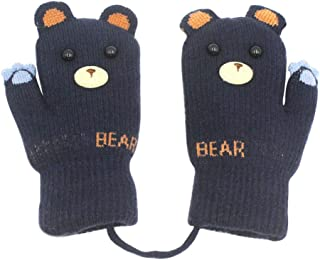 Toddler Warm Stretch Mittens Kids Soft Plush Lined Gloves