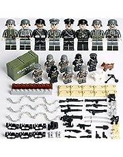 ATING Wojskowe mini figurki baza wojny światowej zestawy broni wojskowej żołnierze odpowiednie