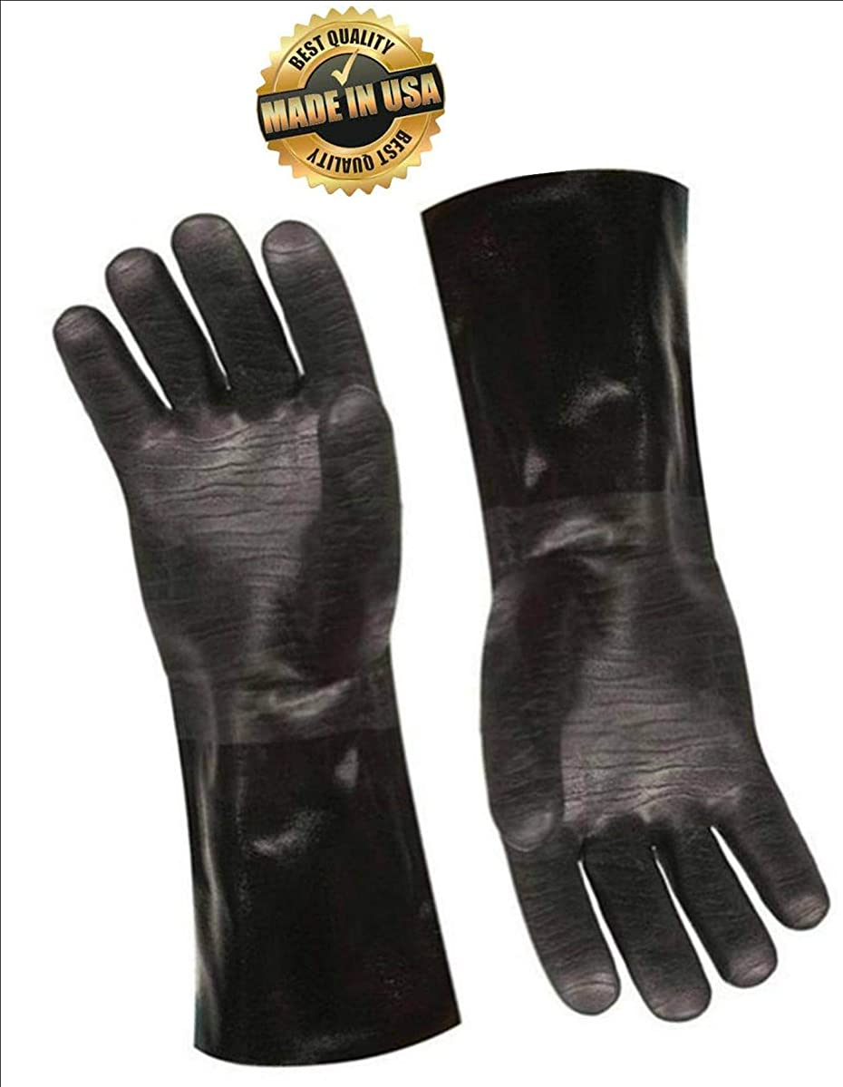 Artisan Griller BBQ Heat Resistant Insulated Smoker, Grilling, Oven, Homebrew and Cooking Gloves. Great for Kitchen/Barbecue/Frying Turkeys -1 Pair (13 Inch) Size 10/XL