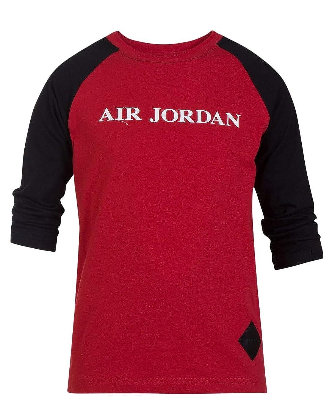 Jordan Nike Big Boys' Raglan Long Sleeves Cotton T-Shirt