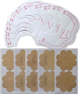 Yanzhong Clothing 10 pcs/5 Pairs Instant Breast Tit Lift Boob Nipple Cover Invisible Adhesive Tape