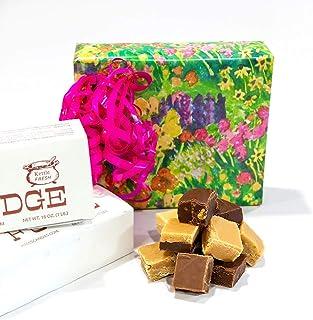 Garden Pastels Fudge Gift Box, 2 Pounds Hall's Chocolate Fudge
