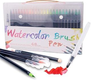 Juego de rotuladores de acuarela, 20/24/48 para pintura suave, con base de agua, para pintura, colorear, pintura de acuarela