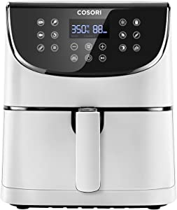 COSORI Air Fryer Max XL(100 Recipes) Digital Hot Oven Cooker, One Touch Screen with 13 Cooking Functions, Preheat and Shake Reminder, 5.8 QT, White