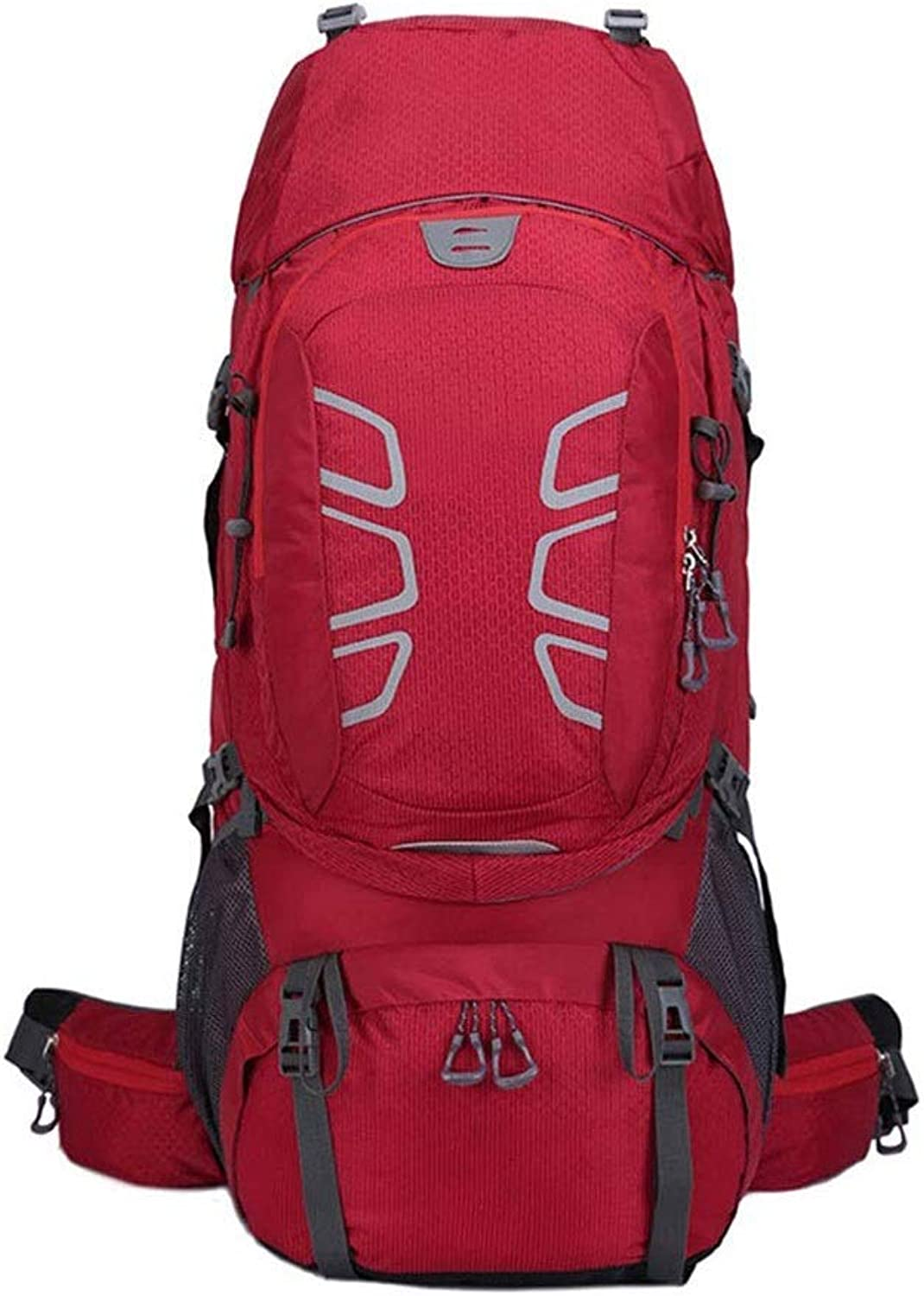 LZRDZSW Hiking Backpack 60L Waterproof Outdoor Backpack Women and Men Bag Camping Mountaineering Backpack Sport WaterRepellent Casual Daypack for Travel Business College (color   Red)