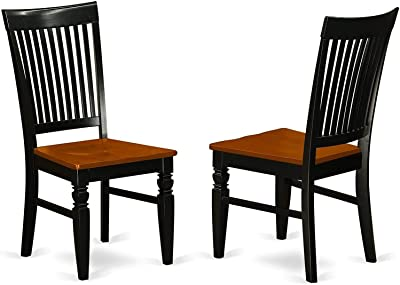 Haoshuo new furniture portable Hao Shuo Fashion New Folding Chair East West Furniture Weston kitchen chairs - Wooden Seat and Black Solid wood Figure dining room chair set of 2 reading painting for be