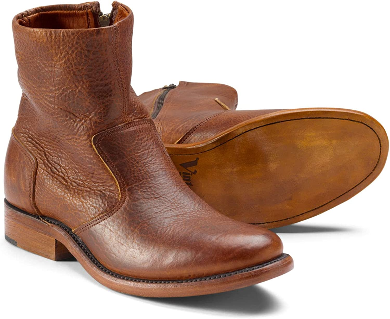 Bison Max 42% OFF Leather Rare Boot Zip