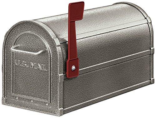 Salsbury Industries 4850D-PEW Deluxe Rural Mailbox, Pewter
