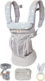 最新 エルゴ 抱っこ紐 Ergobaby(エルゴベビー)OMNI360 cool air/クールエア (ヘッドサポート+よだれパッド+うさみみ(歯固め)付)【正規代理店2年間保証付】 (グレー)