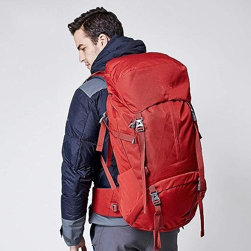 60L + 10L Sac à Dos Plein Air pour Alpinisme Grande Capacité Sac à Dos pour Hommes Et Femmes Camping (Couleur   rouge)