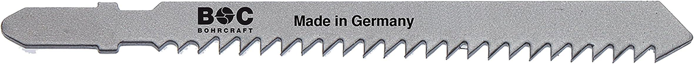 Bohrcraft–Sierra de calar CV, dientes triscado, ZT 3x 75mm Longitud en 25Ondulado BC Caja de plástico, 1pieza, 19610300001