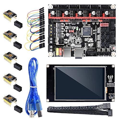 HUANRUOBAIHUO Carte mère + TFT35 écran Tactile + 4 / 5PCS TMC5160 V1.2 Pilote for RepRap TMC2130 SPI Pièces Imprimante 3D MKS GEN V1.4 Pièces d'imprimante 3D (Size : Kit and 4PCS TMC5160)