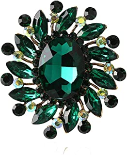 Brooches for women with Crystal Brooch pin with Silver Austrian Element Crystals