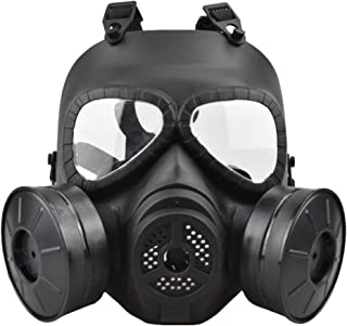 JFFCESTORE Airsoft Tactical Protective Mask M88 Helmet Full Face Eye Protection Skull Dummy Toxic Gas CS Mask Adjustable Strap One Size fits All Airsoft BB Gun CS Game Party