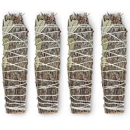 Kokoro Living Organic White Sage and Lavender Smudge Stick Incense, Smudge Stick Bundles for Smudging Rituals