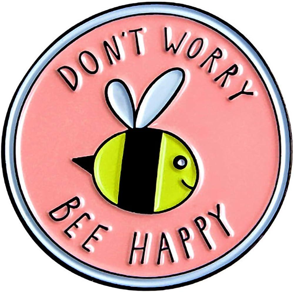 Bee Happy Enamel Pin