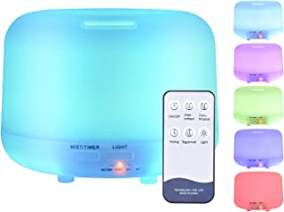 Zoeson 300ml Essential Oil Diffuser Humidifier-7 Color Changing LED Lamps, Adjustable Mist Mode,Auto Off Aroma Diffuser for Bedroom/Office/Trip