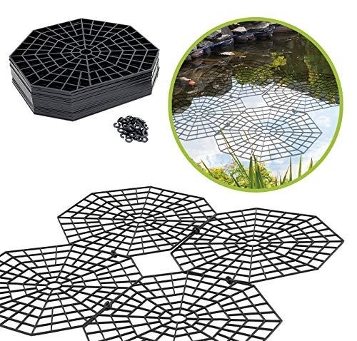 UPP Teich-Schutzgitter | Vogelabwehr & Katzenabwehr OHNE Netz | Schützt Fische effektiv Aber bewahrt das Teichambiente [20 STK.]