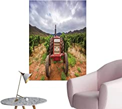 SeptSonne Wall Stickers for Living Room Tractor in a vineyar Robertson South Africa Vinyl Wall Stickers Print,20