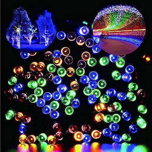 Guirlande Lumineuses Solaire,200 LED 22 Mètres Etanche IP65 8 Modes String Lumière pour Décoration Intérieure et Extérieure Jardin Noël Fête Chambre Soirées[Classe énergétique A+] (Multicolore)