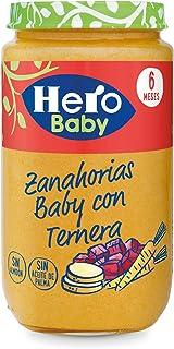 comprar comparacion Hero Baby - Zanahorias Baby Delicias De Ternera 235 gr - Pack de 6 (Total 1410 gr)