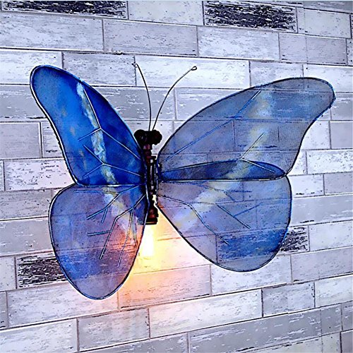 H&M Eisen Retro Piktogramm Schmetterling Pfeife Dekoration Wand Lampe Bar Cafes Cafes Wanddekoration Dekorative Requisiten DIY Tube Lights