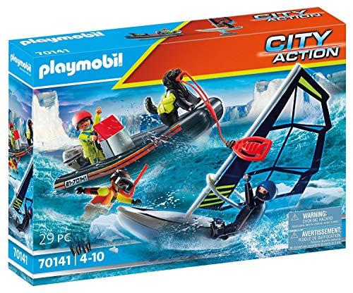 PLAYMOBIL City Action 70141 Seenot: Polarsegler-Rettung mit Schlauchboot, Ab 4 Jahren
