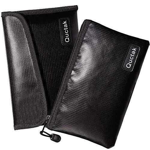 Feuerfeste Tasche, klein, 22,6 x 14,5 cm, feuerfeste Geldtasche, feuerfeste und wasserdichte Tasche, feuerfeste Tasche für Bank, Bargeld, Schmuck, Autoschlüssel