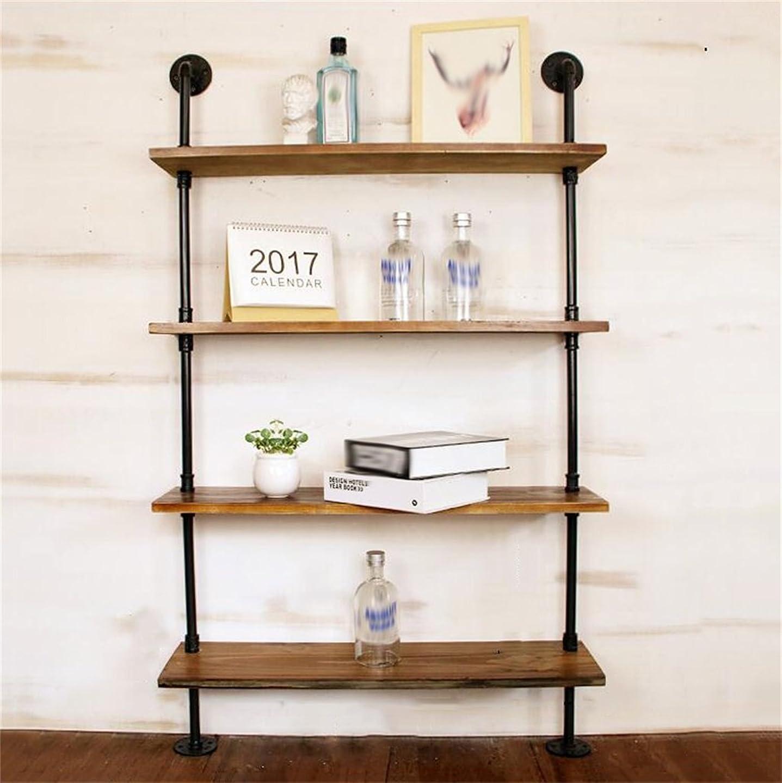 アドバンテージ建築家朝壁掛けシェルフ 水パイプフローティング装飾棚ラック、レトロLOFT壁掛け立て棚シェルフフレーム金具収納スタンド/キッチン/バー/リビングルーム/レストランの本棚 (サイズ さいず : 4 Tiers)