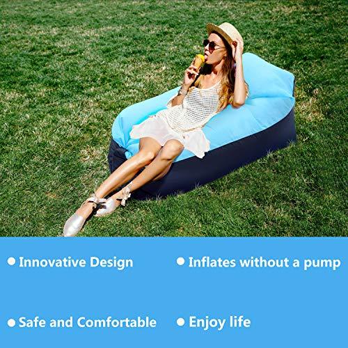 FunPa Aufblasbares Sofa Wasserdichtes Outdoor Luftsofa Air Aufblasbares Liege Stuhl Luftcouch Tragbare Strand Sitzsack Aufblasbar für Außen Innen Camping Picknick Reisen Wandern Park Hinterhof