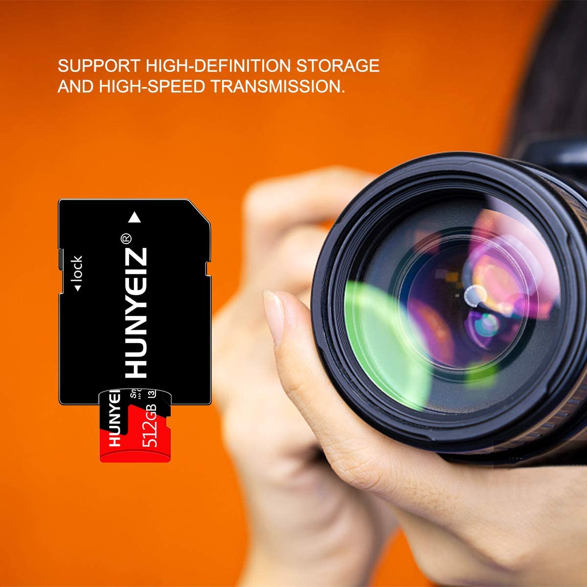 512GB Micro SD Memory Card Micro SD Card,TF Card 512GB Class 10 with A Free SD Card Adapter
