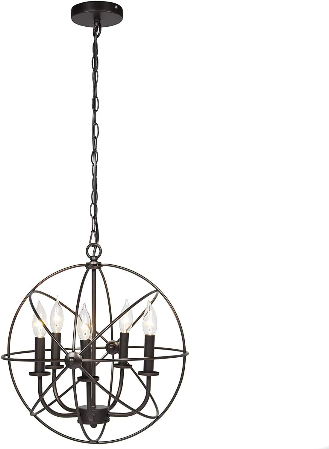 Orb Chandelier Old-Fashioned Industrial Soldering 5 Lights with 100% quality warranty!