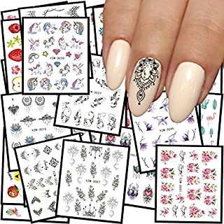JACA 48 Sheets Nail art Stickers Decal Water Transfer Watermark kids Tip Decal Manicure full for women and kids