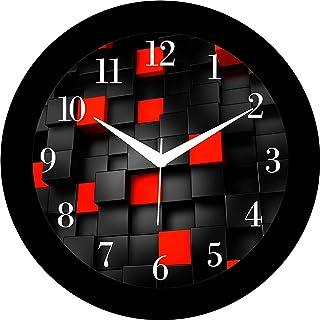 DECORVAIZ Plastic Wall Clock (Multicolour, 3.9 Inch X 11 Inch X 11 Inch)