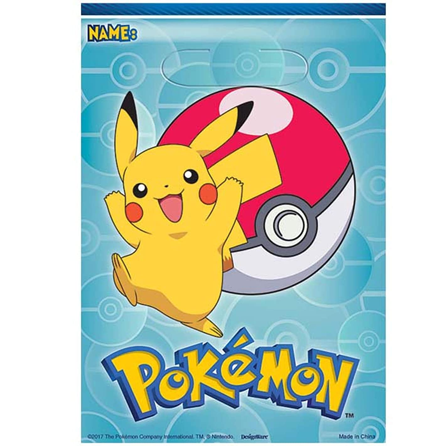 Pokemon? Folded Loot Bag, Party Favor, 48 Ct.