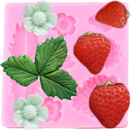 DIY 3D Strawberry Silicone Mold Fondant Cake Decor Tools Chocolate Mold