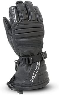 Katahdin Gear Torque Leather Snowmobile Gloves Black Adult Size 2XL