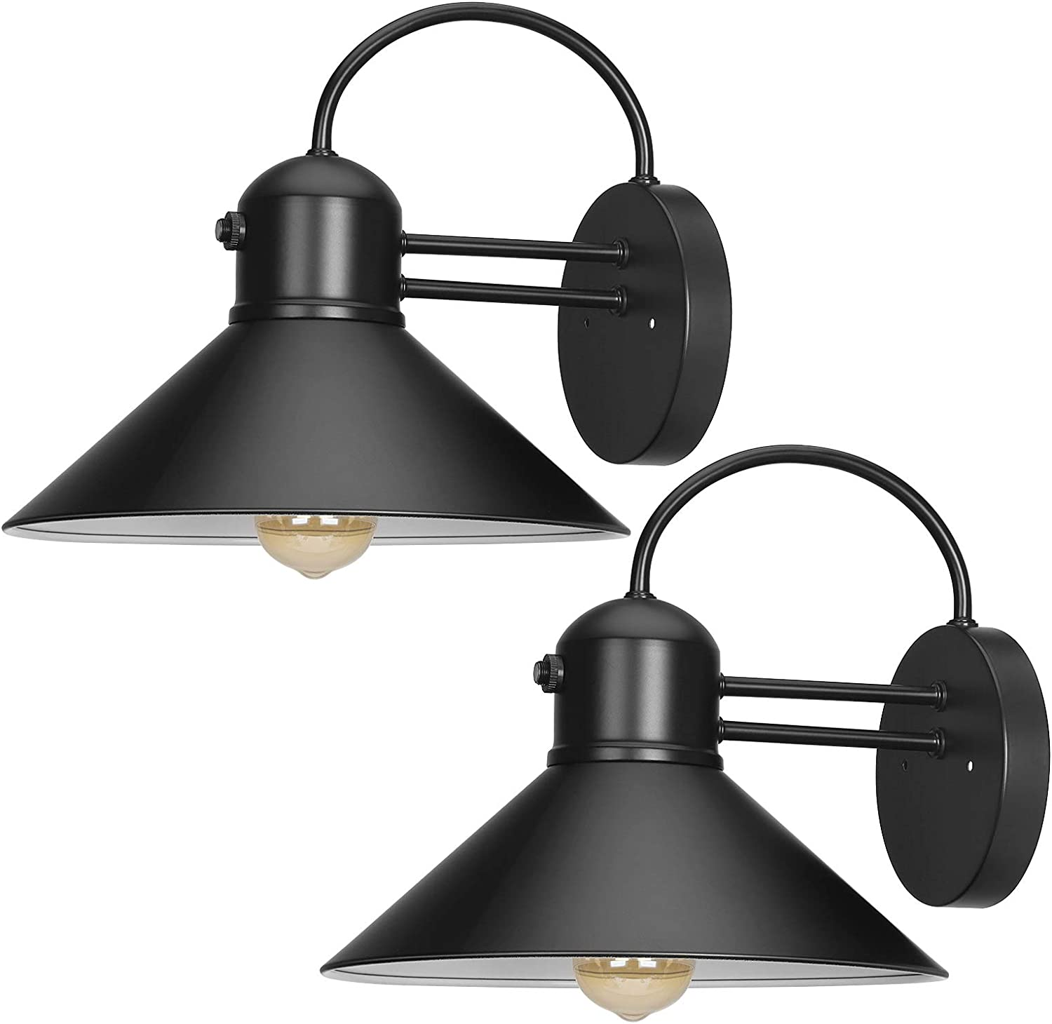 Bombing free shipping DEWENWILS 2 Pack Dusk to High quality Dawn Wall Outdoor Barn Light Gooseneck