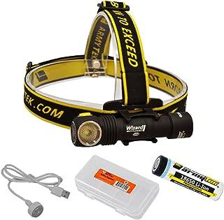 ArmyTek Wizard Pro v3 2300 Lumen Magnetic USB Rechargeable LED Headlamp and BONUS LumenTac Battery Organizer