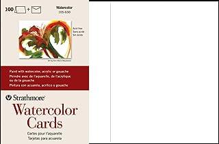 "Strathmore 105-650-1 Watercolor Cards, Cold Press, 5"" x 6.875"", 100 Envelopes, Cards & Envelopes photo"