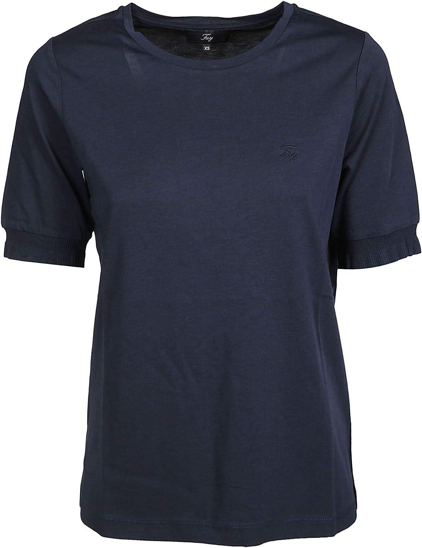 FAY Women's NPWB2386100QQAU807 blueee Cotton TShirt