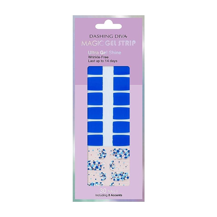 戸口代数促すダッシングディバ マジックジェルストリップ DASHING DIVA Magic Gel Strip DGST70-DURY+ オリジナルジェル ネイルシール Candypop Blue
